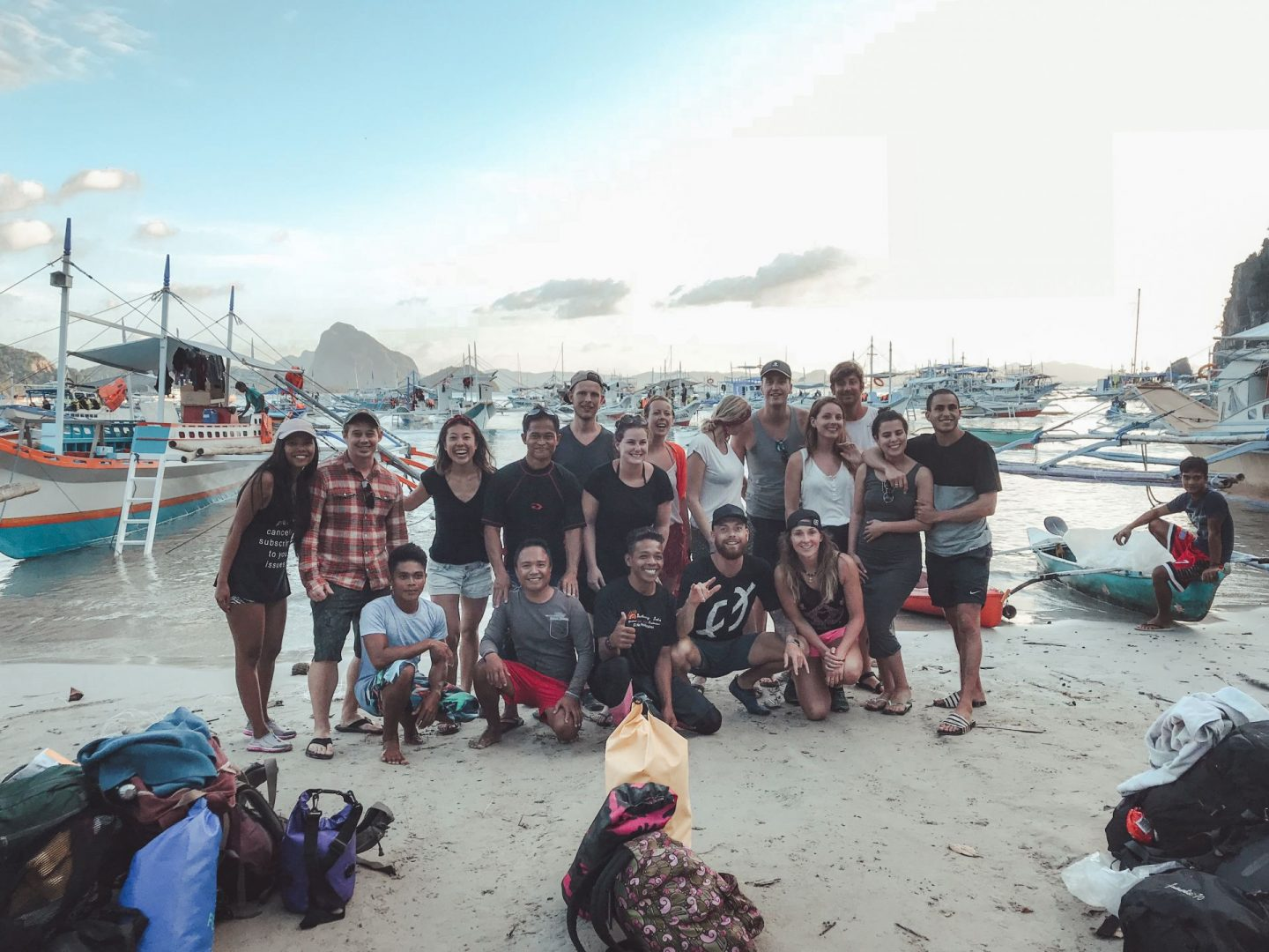 Our deserted island tour group and crew